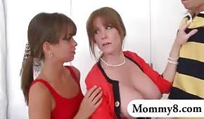 Rudy boutons mère et sa fille